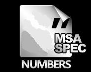 MSA RACE NUMBERS