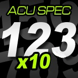 "5"" Race Numbers ACU SPEC - 10 pack"