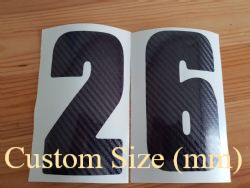 Custom Size Mirror Race Number (mm)