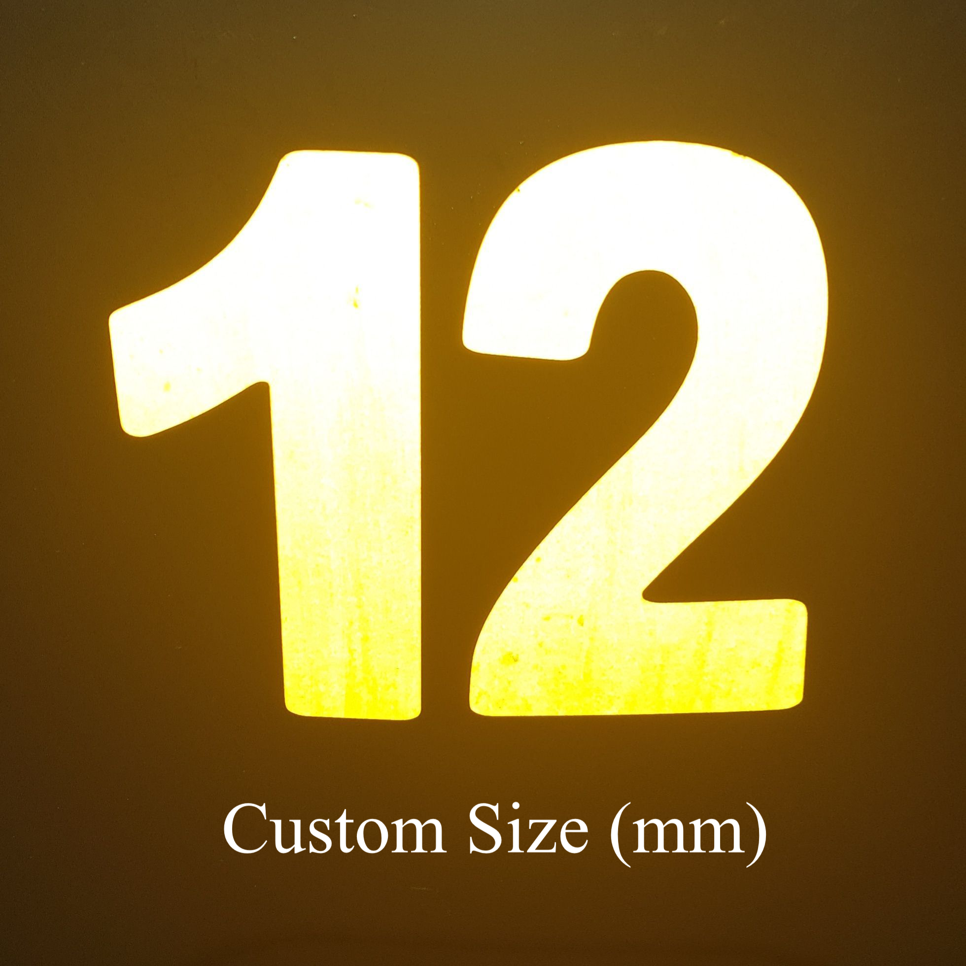 """Custom Highly Reflective Vinyl 2.5/"""" Inch Letters//Numbers 8 colors"""